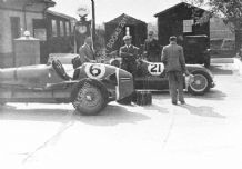 Maserati 8CM (Bira) and 4CL (Wakefield) Refuelling by Brooklands petrol pumps(a)
